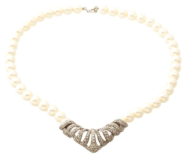 Art Deco-Style Faux-Pearl Necklace