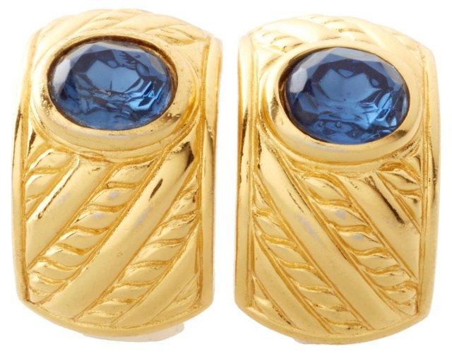 Christian Dior Blue Stone Earrings