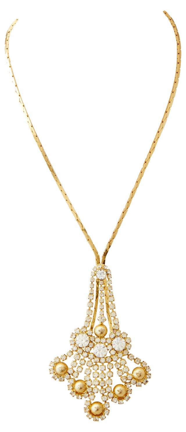 Chandelier Rhinestone Necklace
