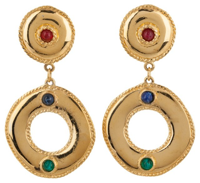 Givenchy Cabochon Earrings