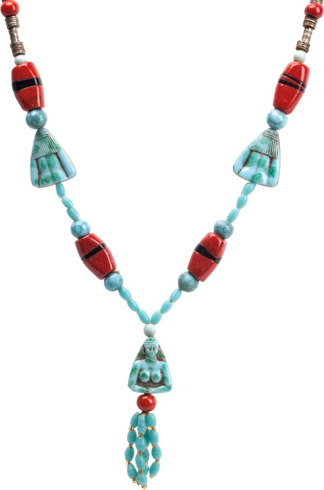 Egyptian-Style Tassel Necklace