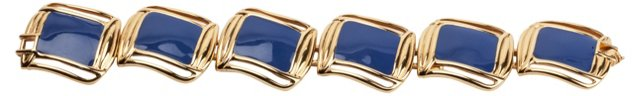 Monet Blue Enamel Bracelet