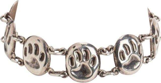 Bear Claw Sterling Silver Bracelet