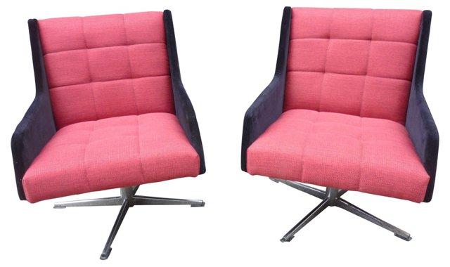 Midcentury Italian  Chairs, Pair
