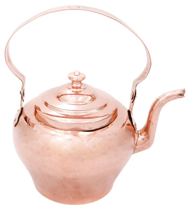 Mid-19th-C. Large Tea Kettle