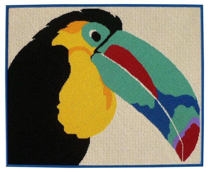 Framed Toucan Needlepoint