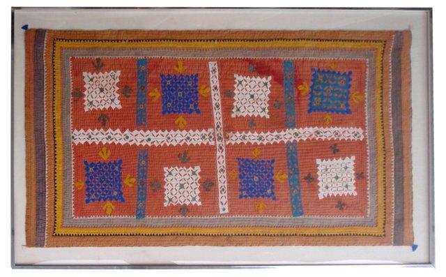 Antique Framed Indian Textile
