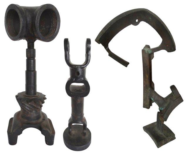 Steel Industrial Sculptures, S/3
