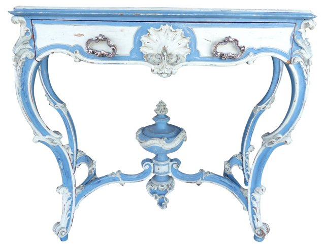 19th-C.  Painted Console