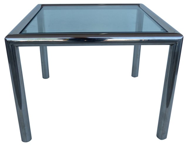 Chrome & Glass Side Table