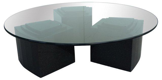 Granite & Glass Round Coffee Table