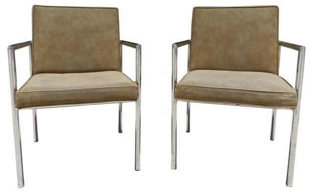 Le Corbusier-Style   Armchairs, Pair