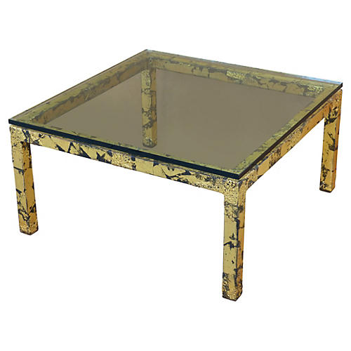 Silas Seandel Gilt Metal Coffee Table