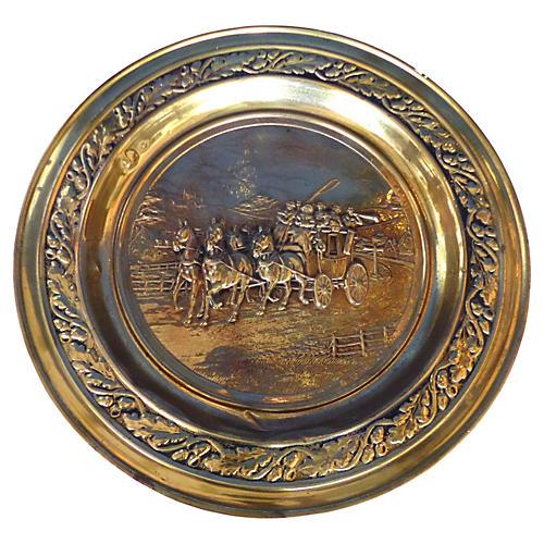 Lombard C&A Ltd. English Brass Wall Tray