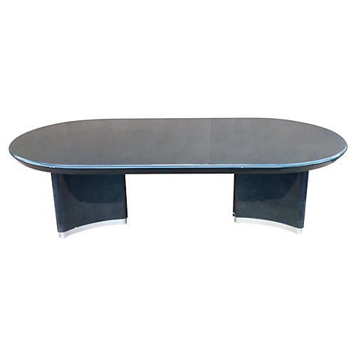 Karl Springer-Style Dining Table