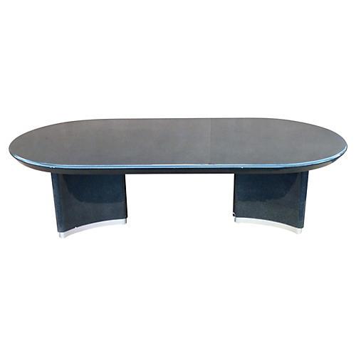 Karl Springer-Style Dining Table