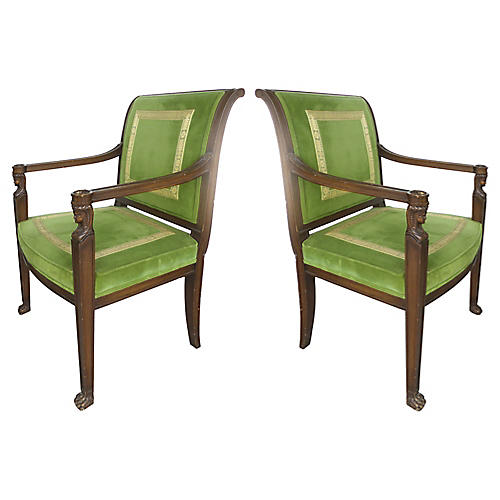 Cocheo Bros, Fine Quality Chairs, Pair