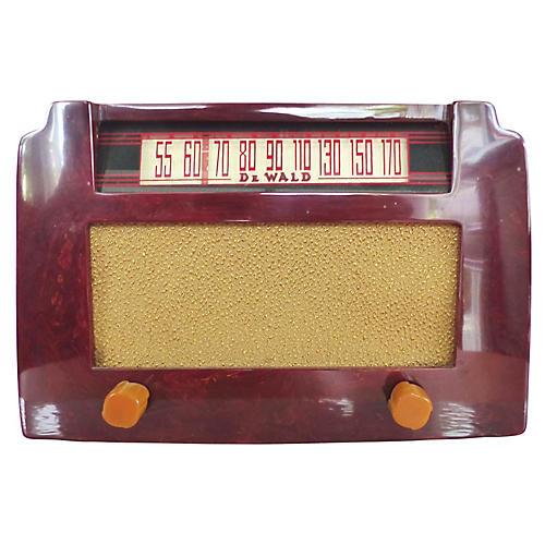 DeWald Art Deco Catalin Red Radio