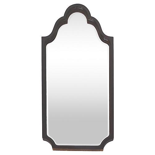 Mahogany Turned Wood Mirror, C. 1920