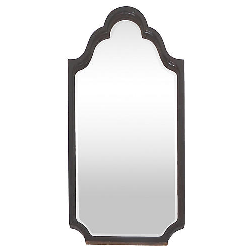 Mahogany Turned Wood Mirror, C. 1920