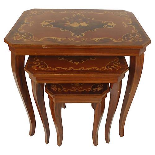 Italian Nesting Side Tables, S/3