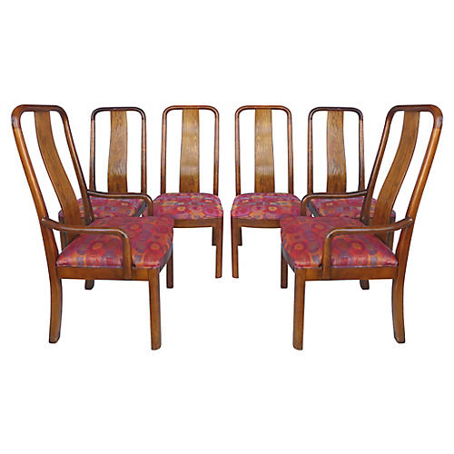 Bernhardt High-Back Dining Chairs, S/6