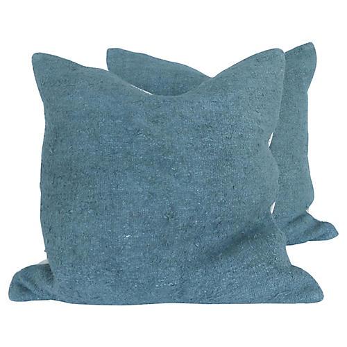 Down Filled Hemp Pillows, Pr