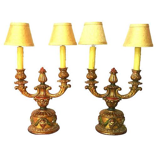 1940s Italian Table Lamps, Pair