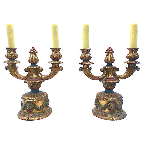 1940s Italian Table Lamps, Pair