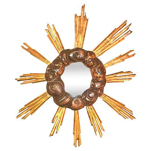18th-C Italian Gilt Sunburst Mirror
