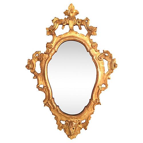 Mid-19th-C. Italian Giltwood Mirror