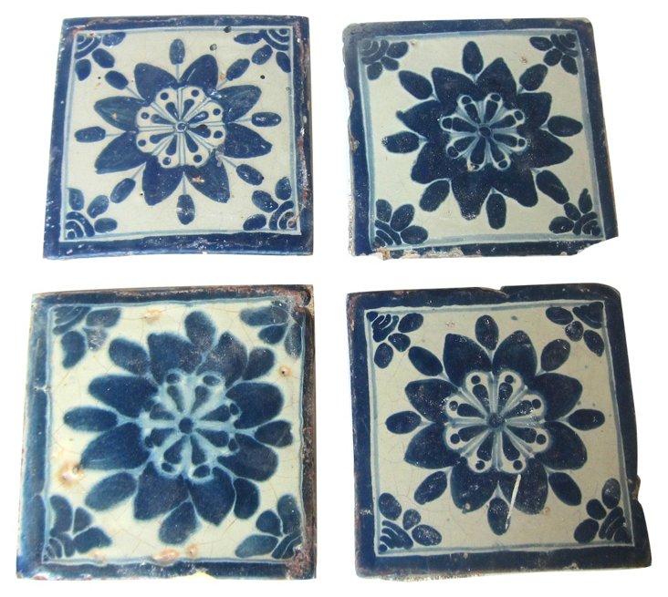 18th-C. Talavera Tiles, S/100