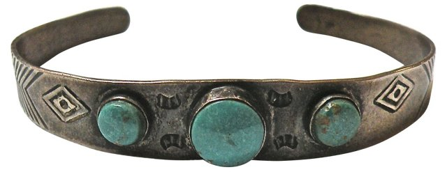 Sterling Silver Cuff w/ Turquoise