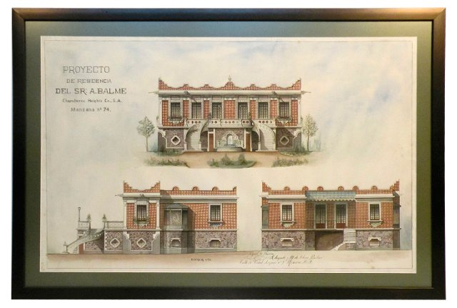 Watercolor Architectural Drawing