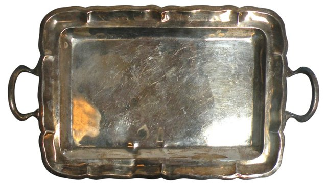 Mexican Silverplate Tray
