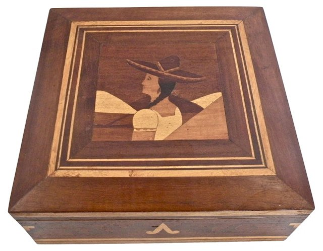 Charro Señorita Marquetry Box