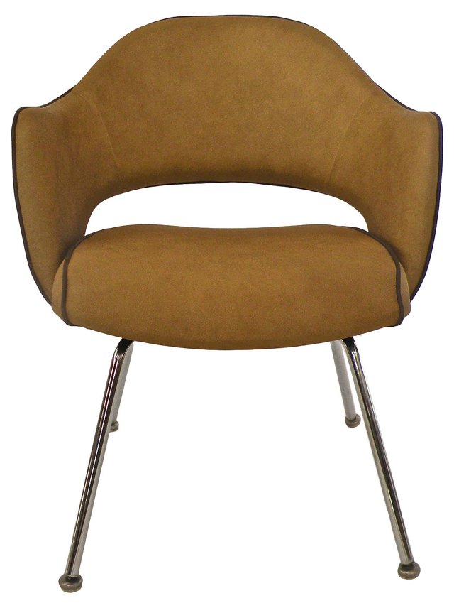 Butter Yellow Leather Armchair