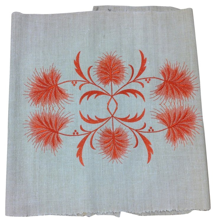 Antique Embroidered Handloomed Linen