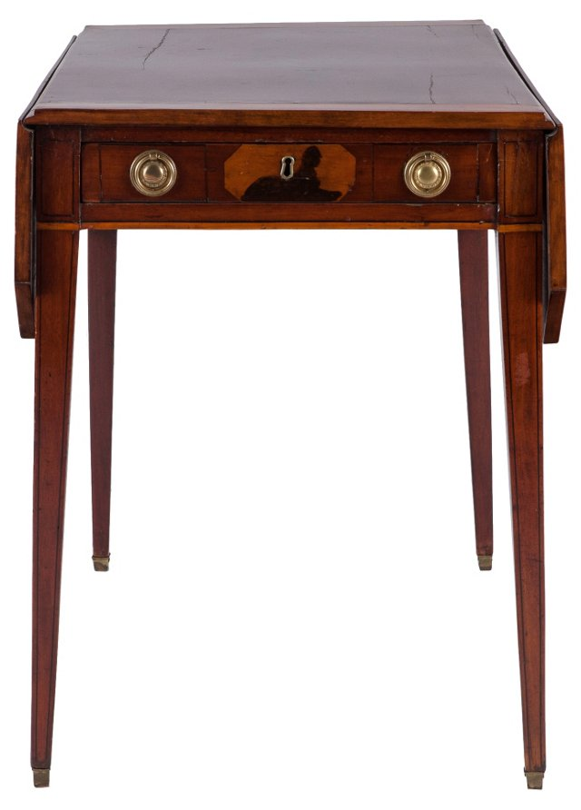 English Pembroke End Table, C. 1860