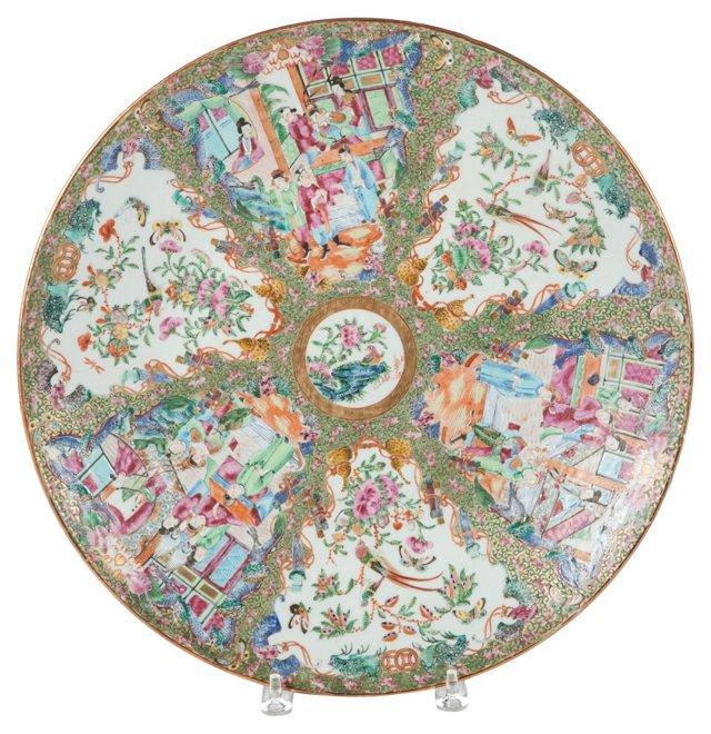 Mandarin Rose Platter, C. 1800