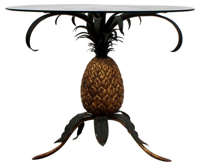 Italian Tole Pineapple Accent Table