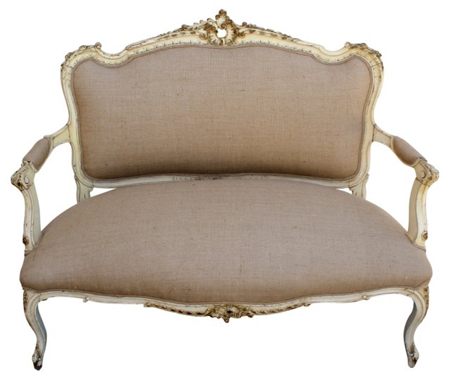 1940s  Louis XVI-Style French Settee