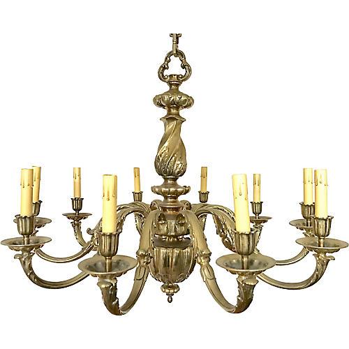 Italian Brass Chandelier