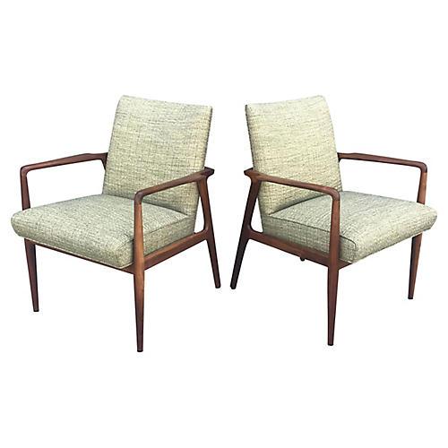 Stow-Davis Lounge Chairs, S/2