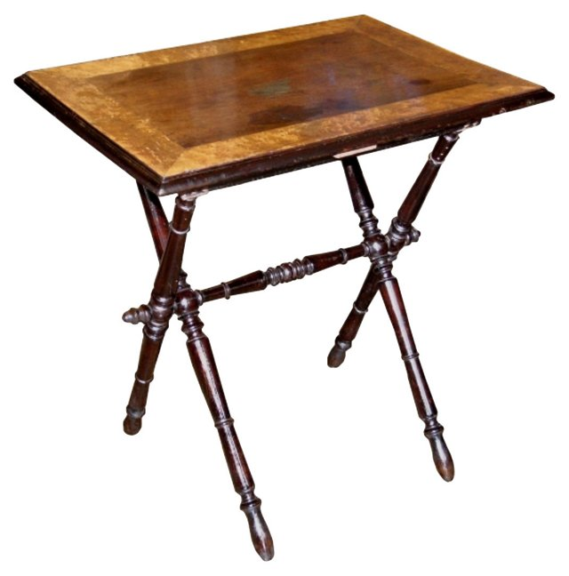 19th-C.  Folding Side Table