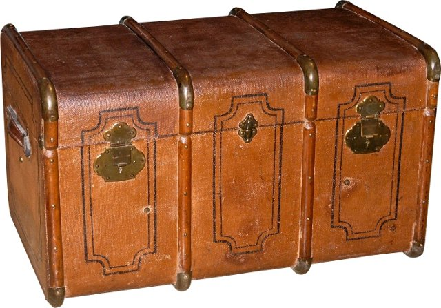 Antique Canvas Trunk