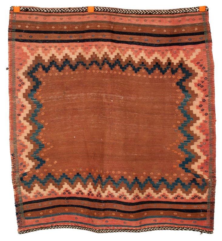 "Square Bedouin Rug, 3'5"" x 3'3"""