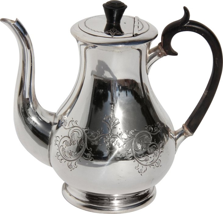 English Silverplate Coffee Pot, C. 1860
