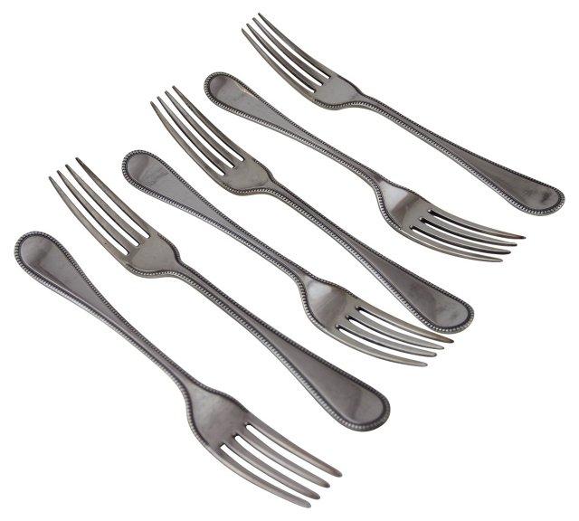 English Dinner Forks, C. 1850, S/6