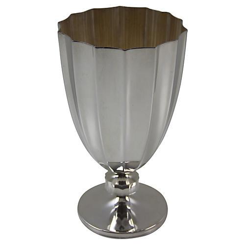 Fluted Vase English SP, C. 1930